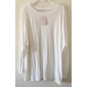 NWT Free People We The  Free White Top, Size Small